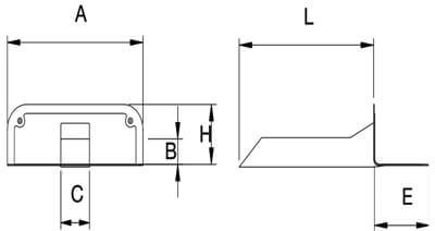 Desagüe horizontal cuadrado en TPE para lámina EPDM, butilo y asfalto